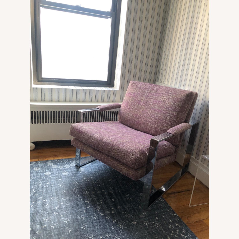Milo Baughman Chrome Armchair - image-1
