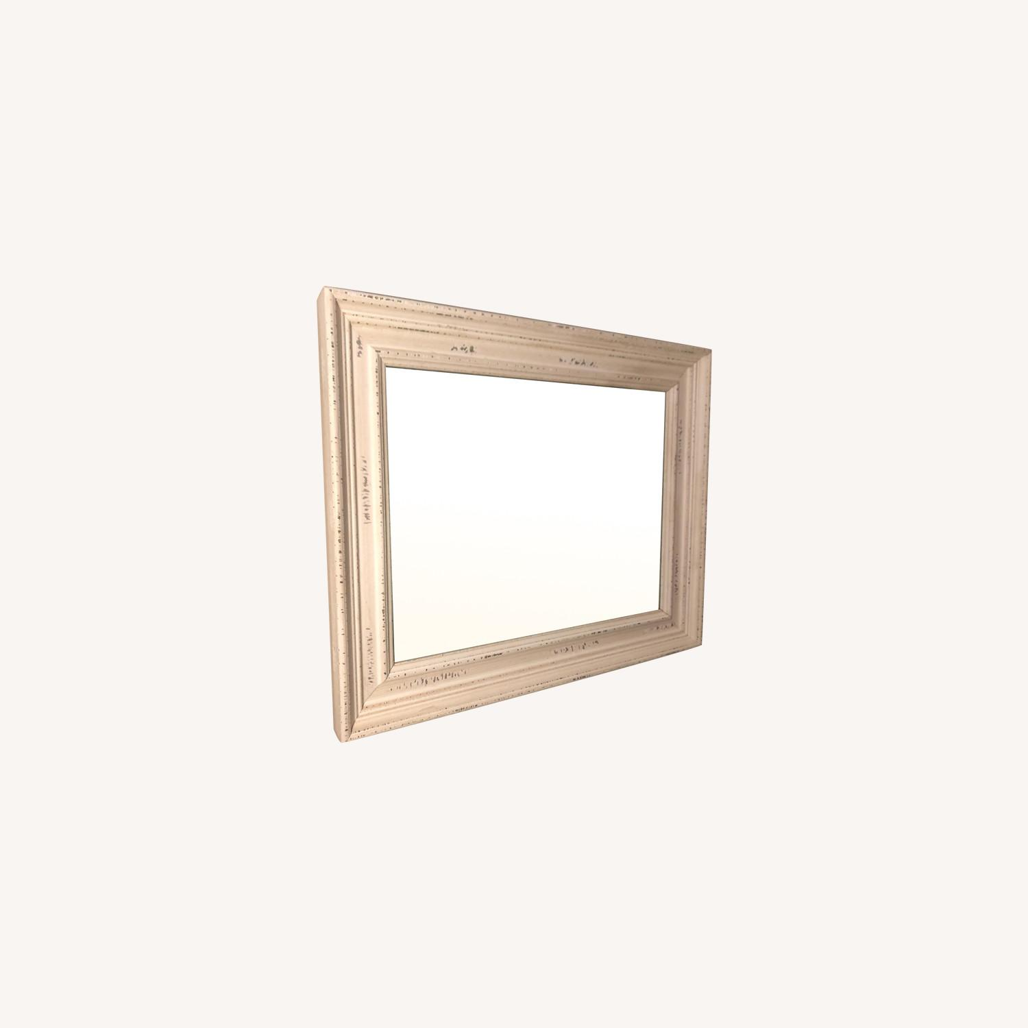 Wayfair White Speckled Wood Wall Mirror - image-0