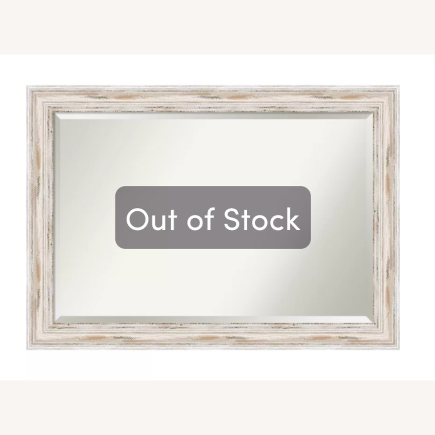 Wayfair White Speckled Wood Wall Mirror - image-3