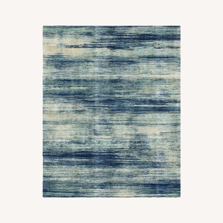 West Elm Verve Rug, Blue Teal - image-0