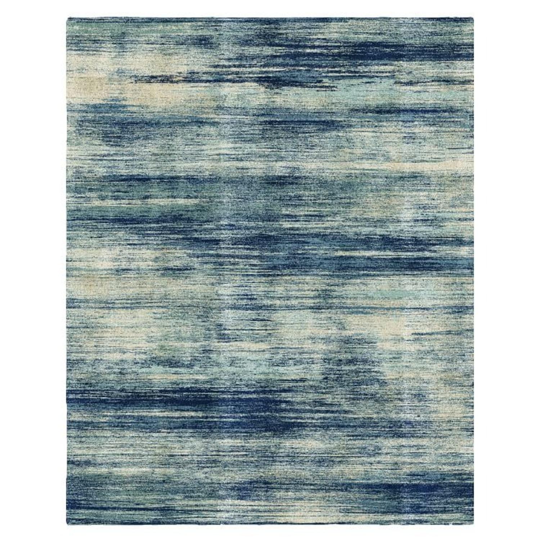 West Elm Verve Rug, Blue Teal - image-1