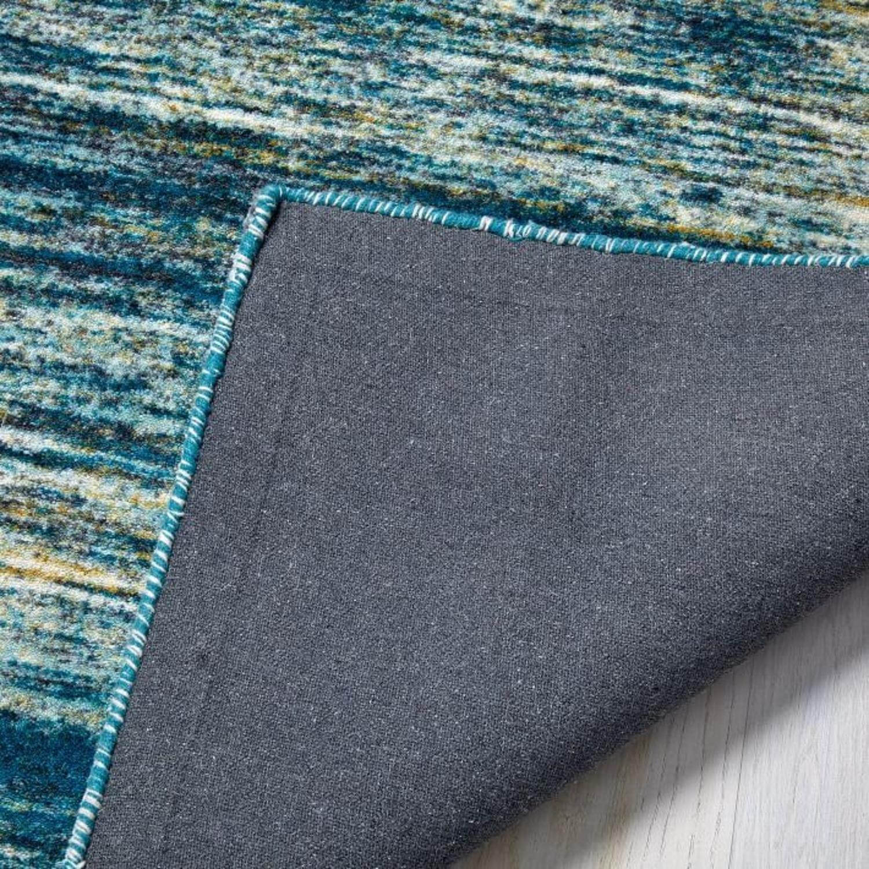 West Elm Verve Rug, Blue Teal - image-3