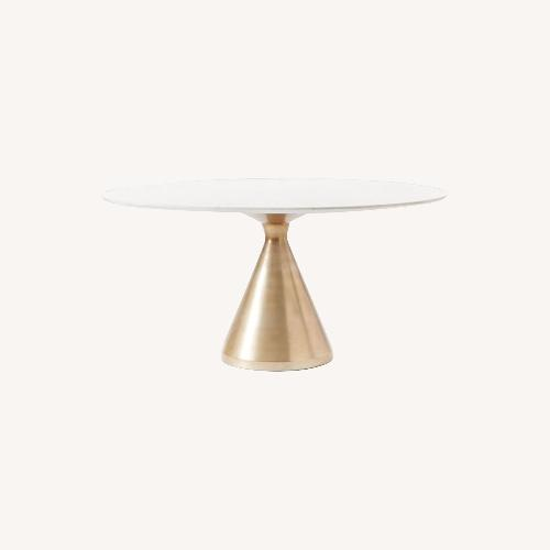 Used West Elm Silhouette Pedestal Oval Dining Table for sale on AptDeco