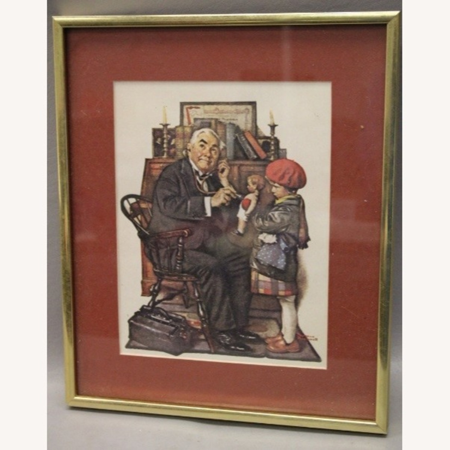 "Norman Rockwell ""Doctor and Doll"" Wall Art - image-4"