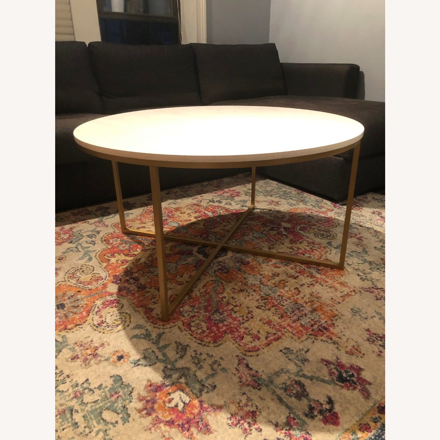 Target Round Modern Coffee Table - Faux Marble & Gold ...