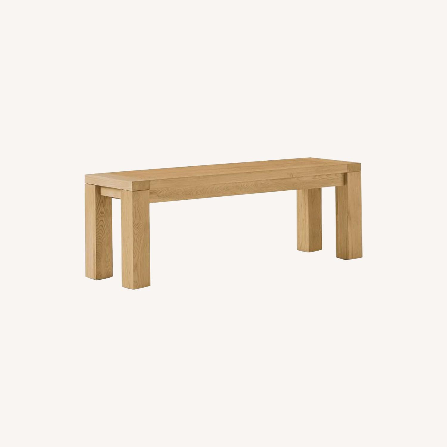 West Elm Tahoe Solid Wood Dining Bench - image-0