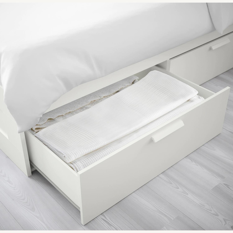 Ikea Brimnes White Full Bedframe With Storage Aptdeco,Small Kids Bedroom Storage Ideas