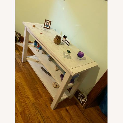 Used Pottery Barn Distressed Console for sale on AptDeco