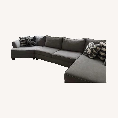 Used Raymour & Flanigan Daine 3-pc. Sectional Sofa for sale on AptDeco