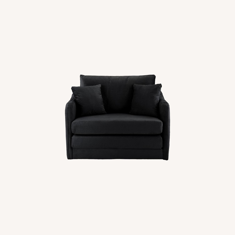 Picture of: Walmart Convertible Sleeper Chair In Black Aptdeco
