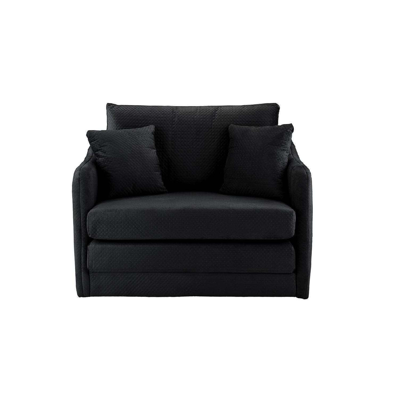 Walmart Convertible Sleeper Chair In Black Aptdeco