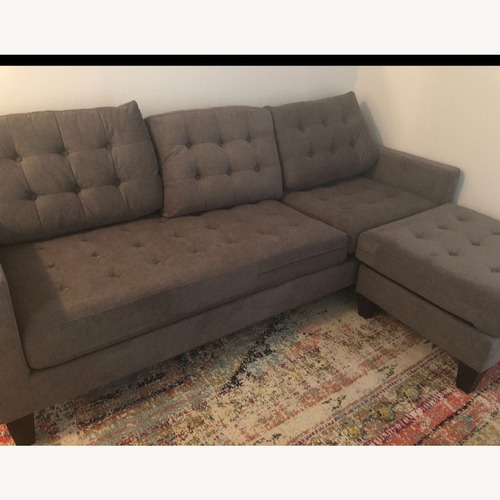 Used Abbyson Living Grey Reversible Sectional Sofa for sale on AptDeco
