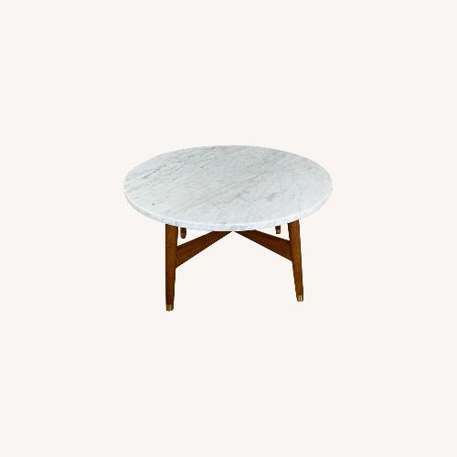 Used West Elm Reeve Marble Coffee Table for sale on AptDeco