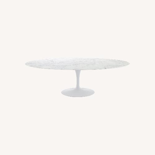 Used Saarinen Oval Tulip Dining Table - Marble Top for sale on AptDeco