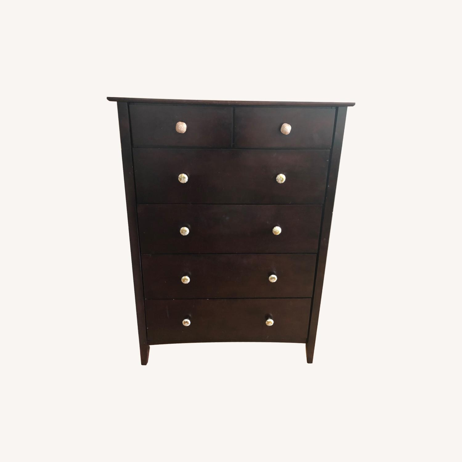 Wood Dresser with Anthropologie Knobs - image-0