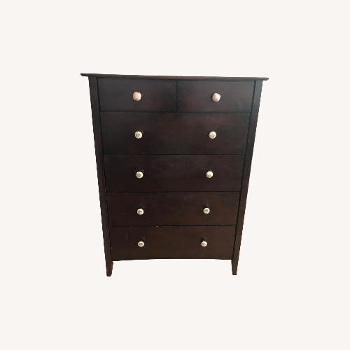 Used Wood Dresser with Anthropologie Knobs for sale on AptDeco