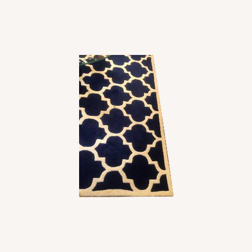 Used Safavieh Navy/ White Rug + Bonus Rug for sale on AptDeco