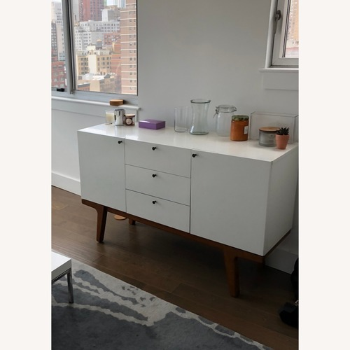 Used West Elm White Media Console for sale on AptDeco