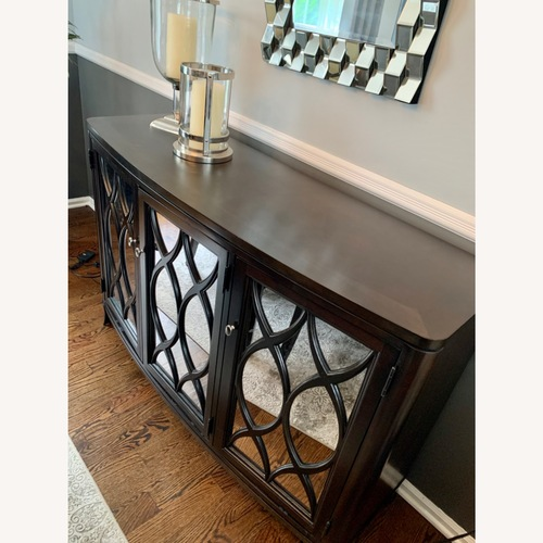 Used Beautiful Solid Wood Dining Set & Credenza for sale on AptDeco