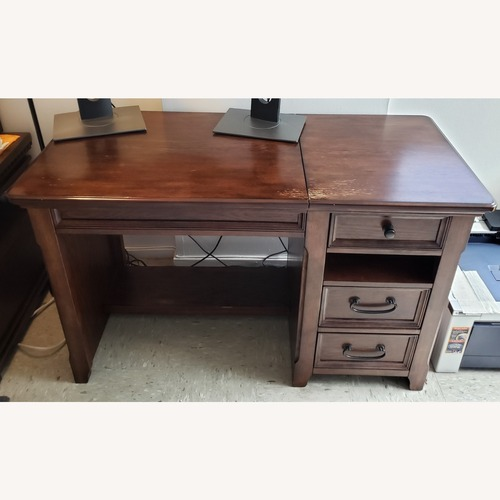 Used Ashley Furniture Wood Home Office Lift Top Desk for sale on AptDeco