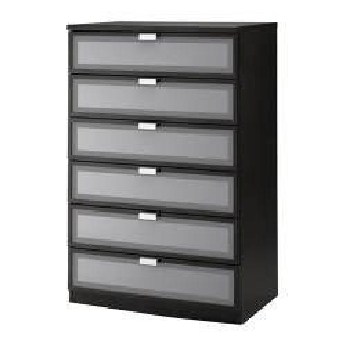 Used IKEA 6-Drawer Frosted-Glass Dresser for sale on AptDeco