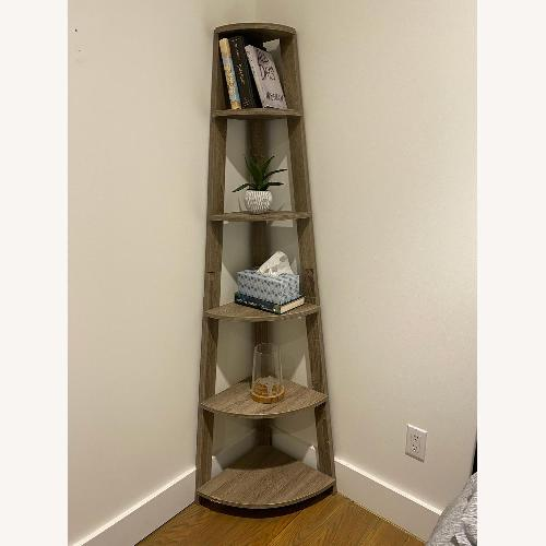 Used Corner Wood Bookshelf for sale on AptDeco