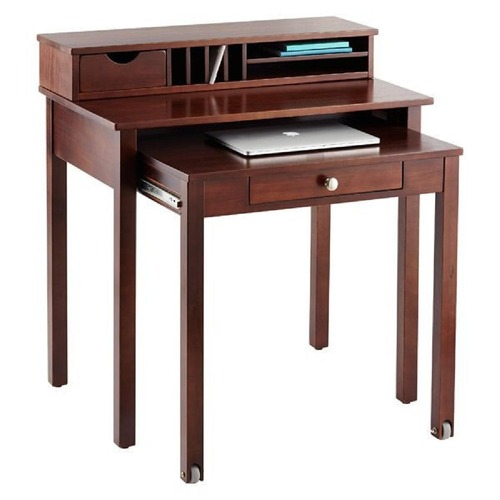 Used Container Store Wood Roll Out Desk for sale on AptDeco