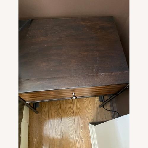 Used Dark Brown Wood and Iron Nightstand for sale on AptDeco