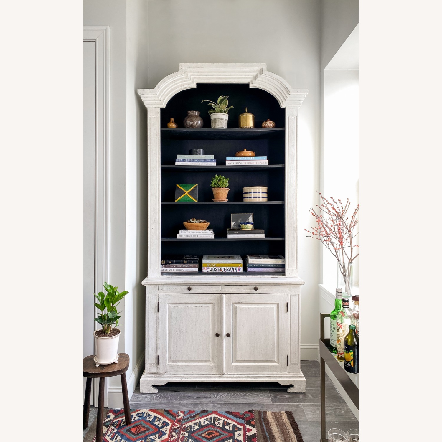 Vintage French Country Style Bookcase - image-1