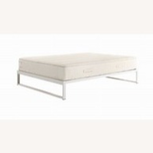 Used Keetsa Minimo Snow White Steel Twin Bed Frame for sale on AptDeco