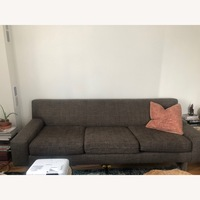 Crate Amp Barrel Grey 3 Seater Couch Aptdeco