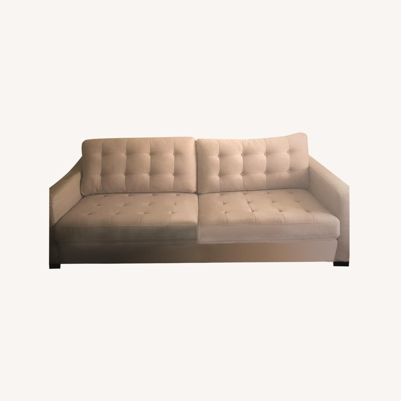 Pier 1 Imports Modern Sleek Light Grey Sofa - image-10