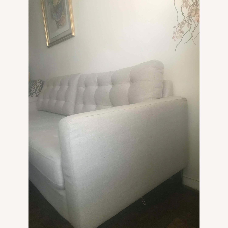 Pier 1 Imports Modern Sleek Light Grey Sofa - image-3