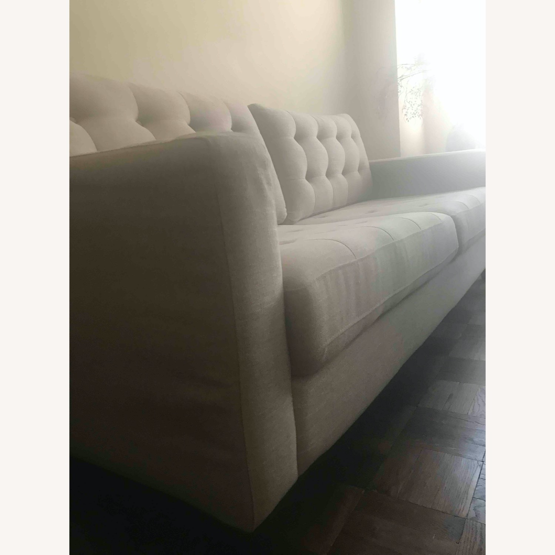 Pier 1 Imports Modern Sleek Light Grey Sofa - image-4