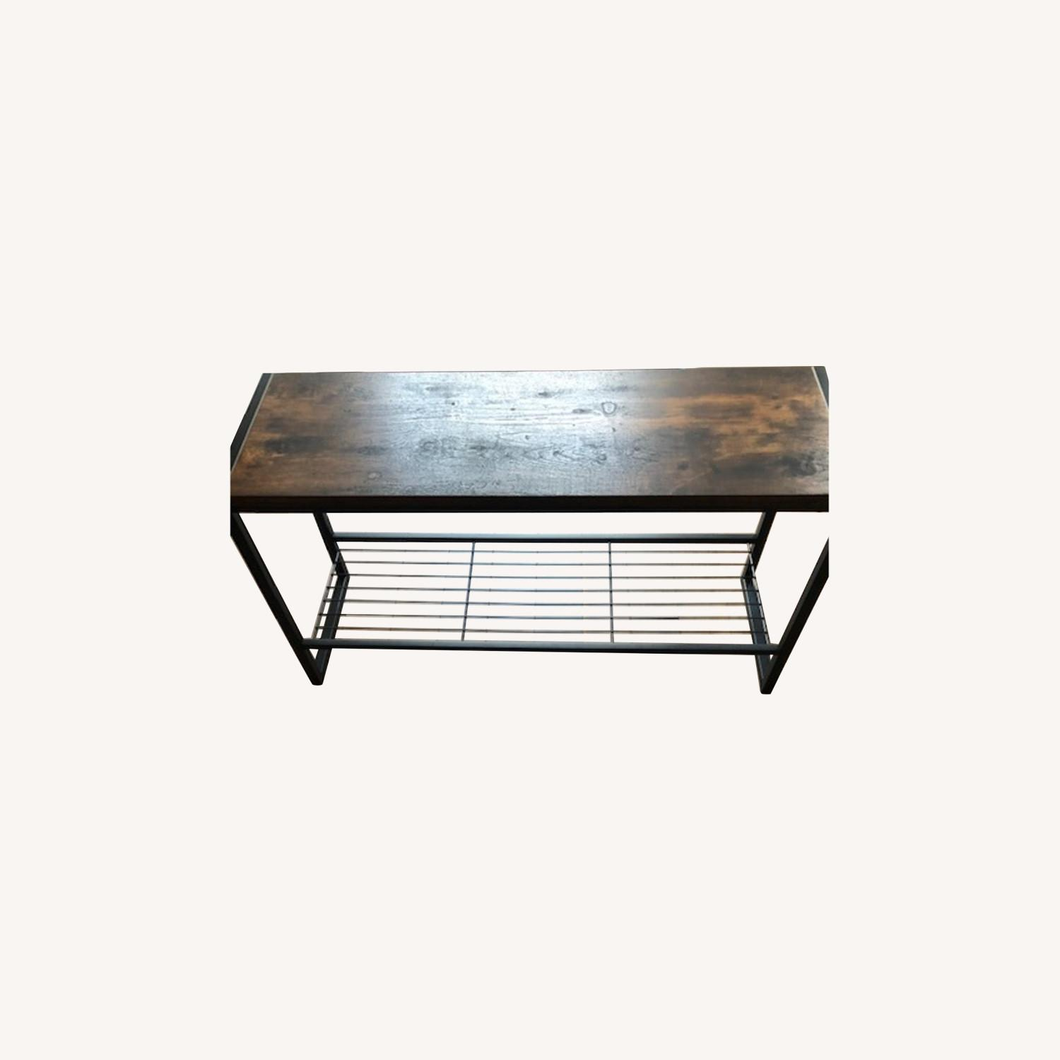 Whitmores Modern Industrial Entry Way Bench - image-0