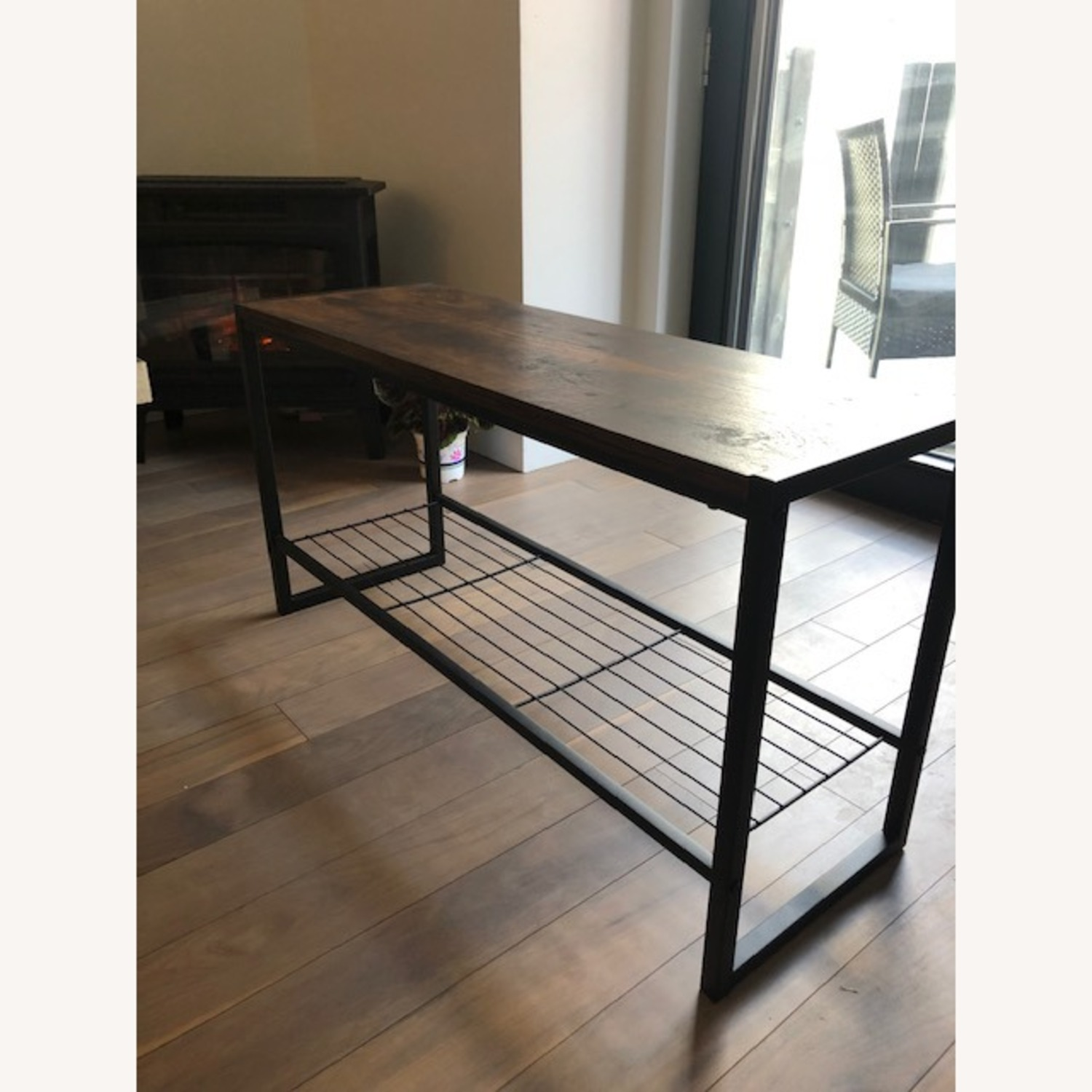 Whitmores Modern Industrial Entry Way Bench - image-1