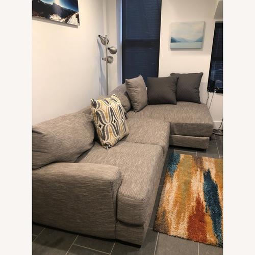 Used Raymour & Flanigan Hannigan Fog 2 Piece Sofa for sale on AptDeco