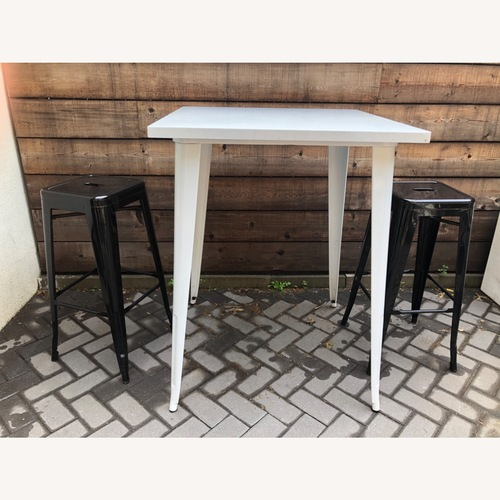 Used Tolix White Table for sale on AptDeco