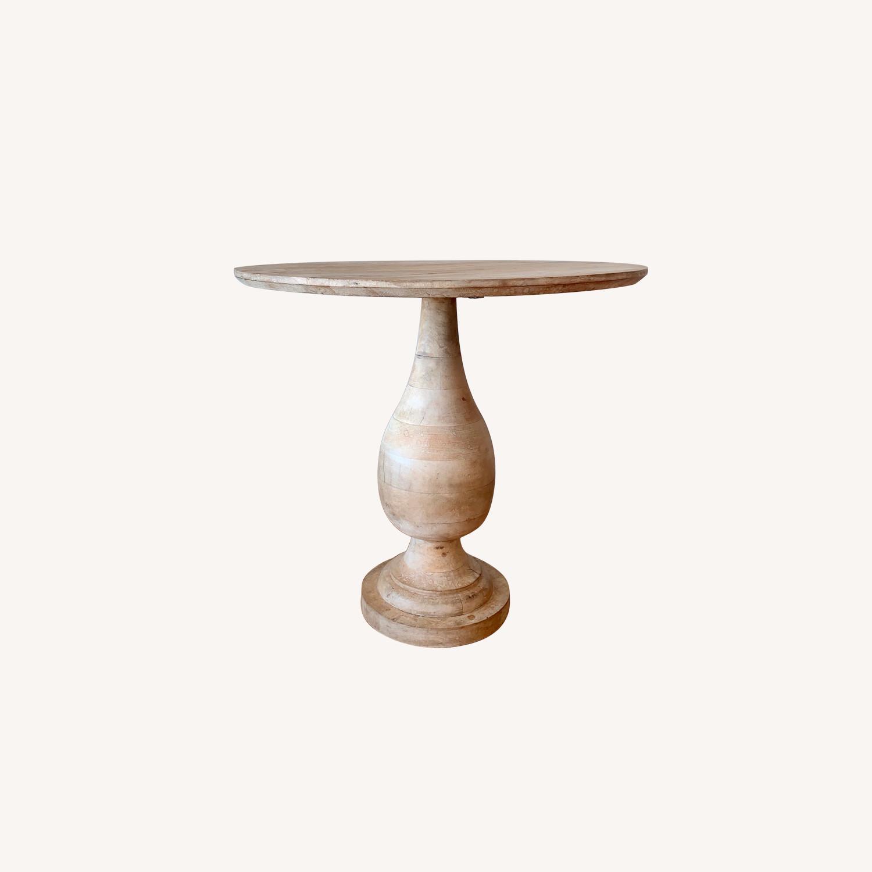 West Elm Mango Wood 32 Round Pedestal Base Dining Table Aptdeco
