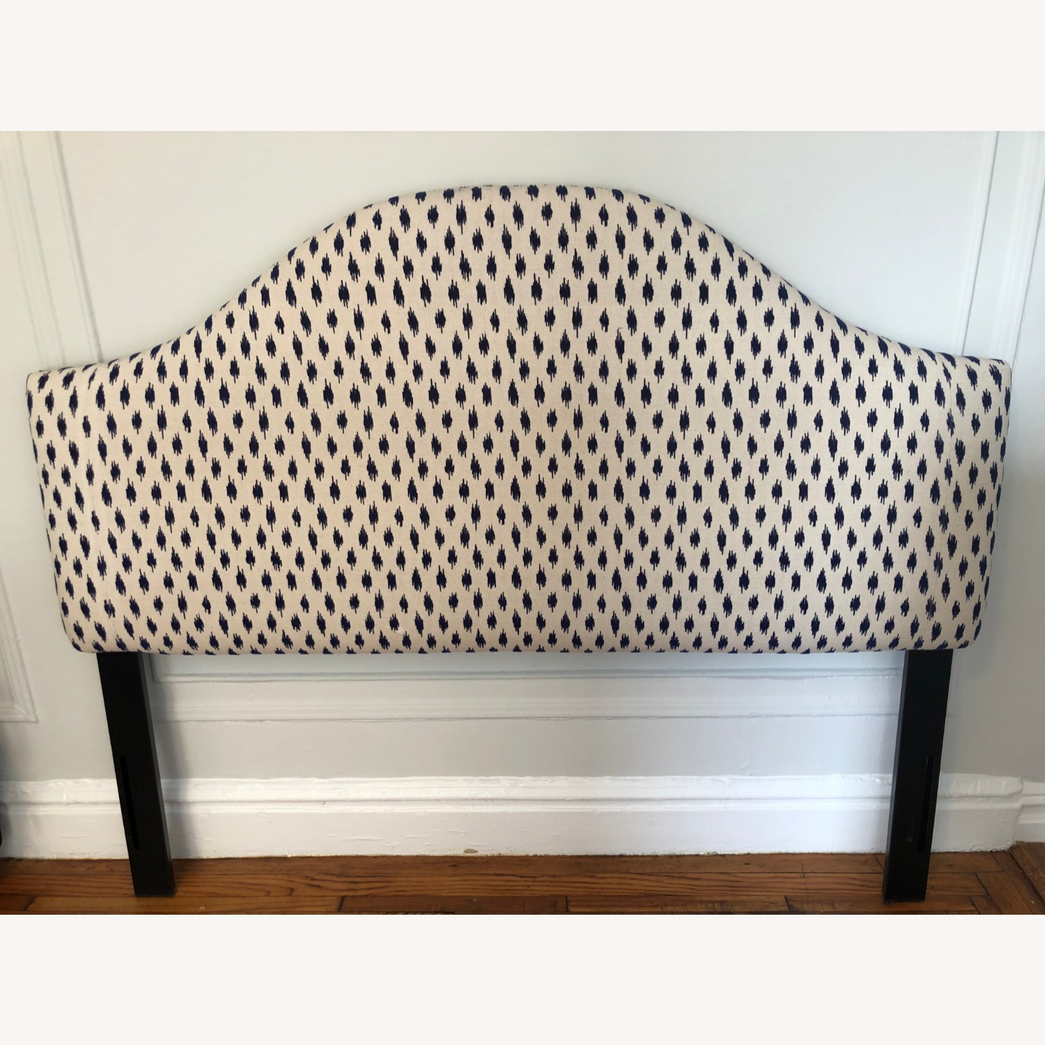 One Kings Lane Libby Headboard Navy/Ivory - image-2