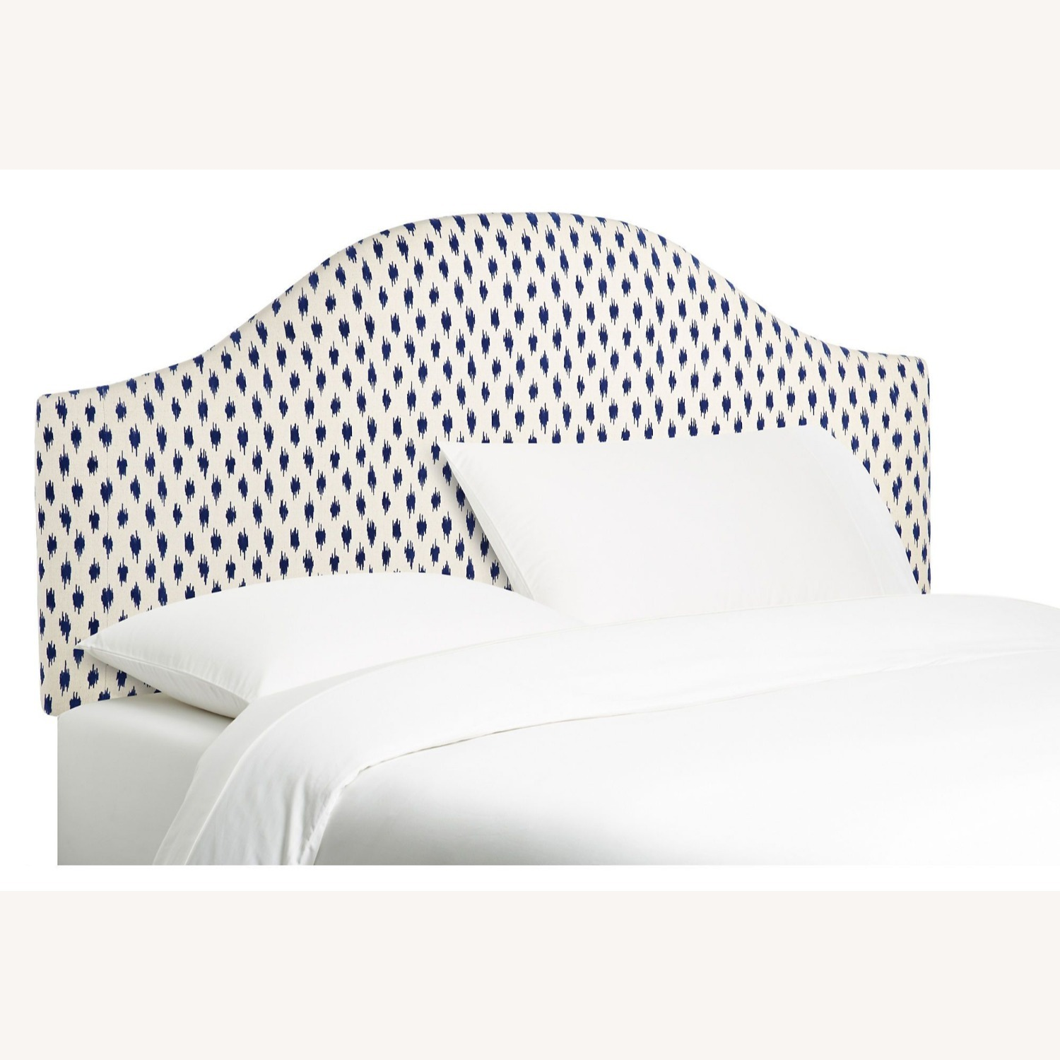 One Kings Lane Libby Headboard Navy/Ivory - image-1
