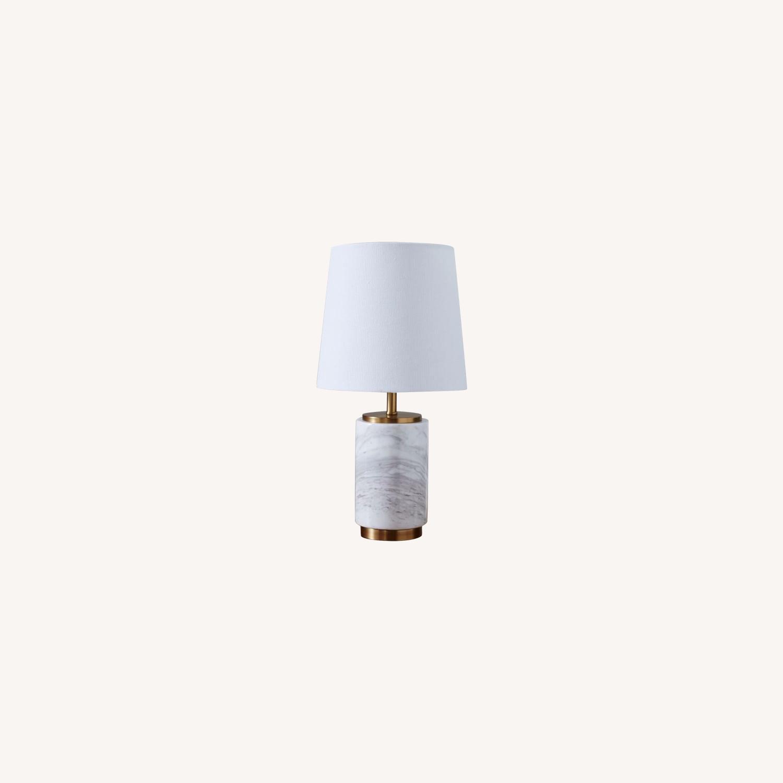 West Elm Pillar Marble Table Lamp Aptdeco