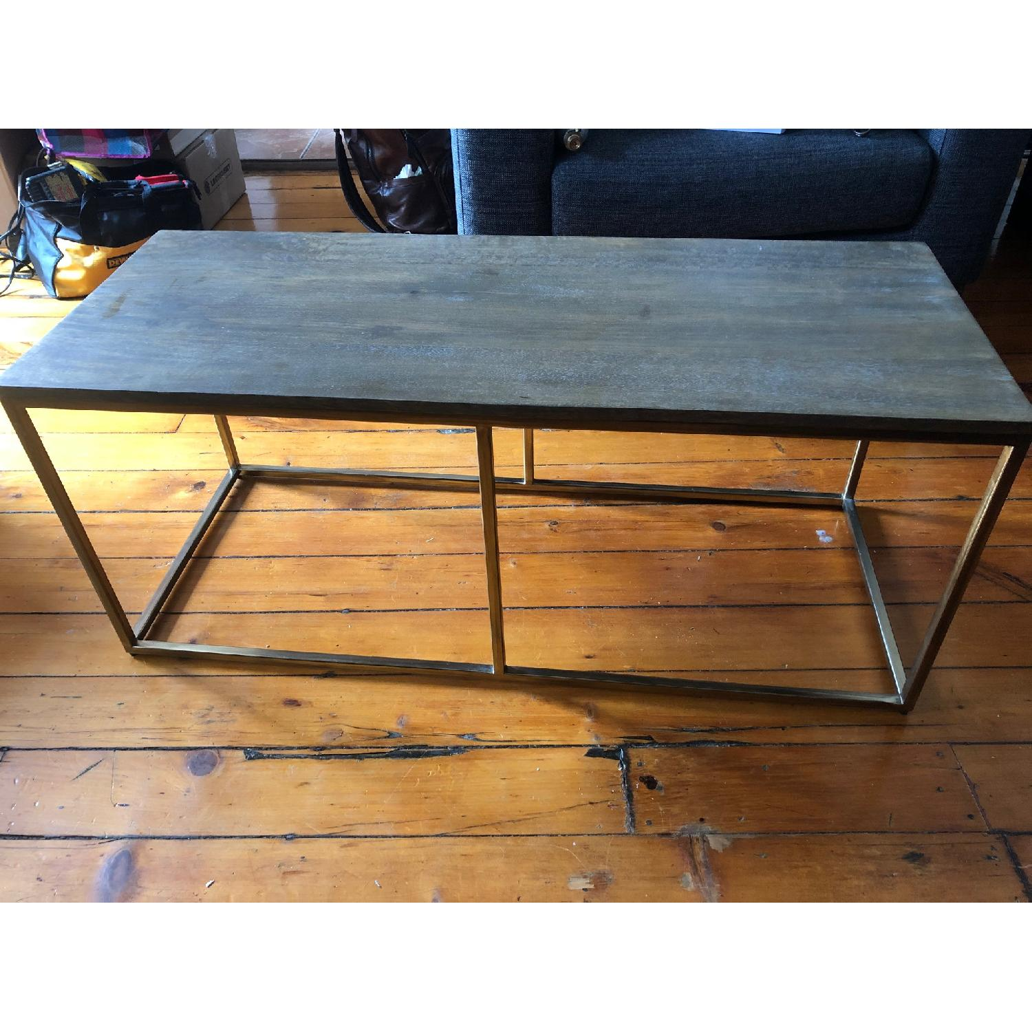 Pottery Barn Delaney Coffee Table Wood/French Grey - image-0
