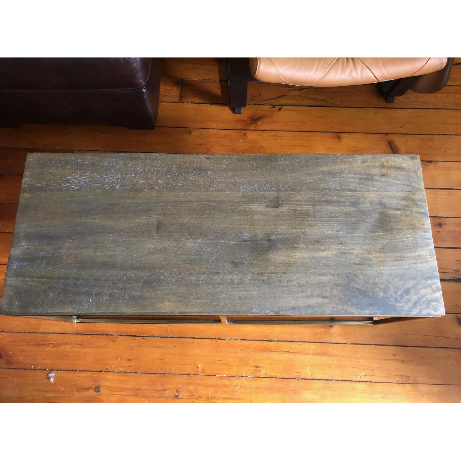 Pottery Barn Delaney Coffee Table Wood/French Grey - image-2