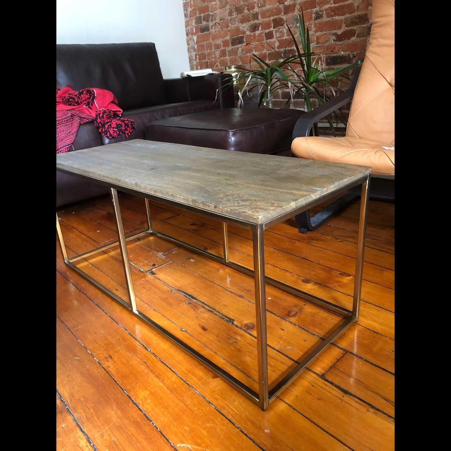 Pottery Barn Delaney Coffee Table Wood/French Grey - image-6