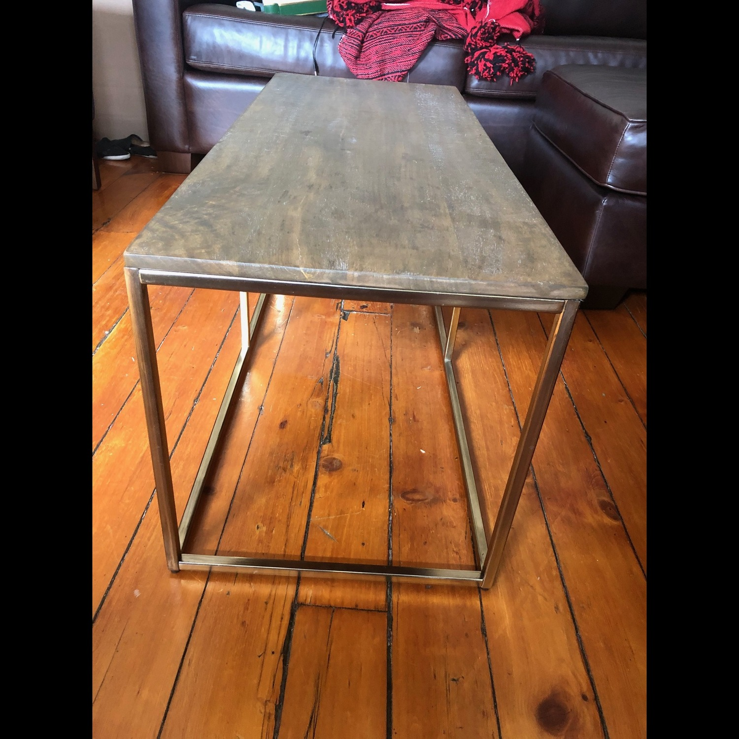 Pottery Barn Delaney Coffee Table Wood/French Grey - image-5