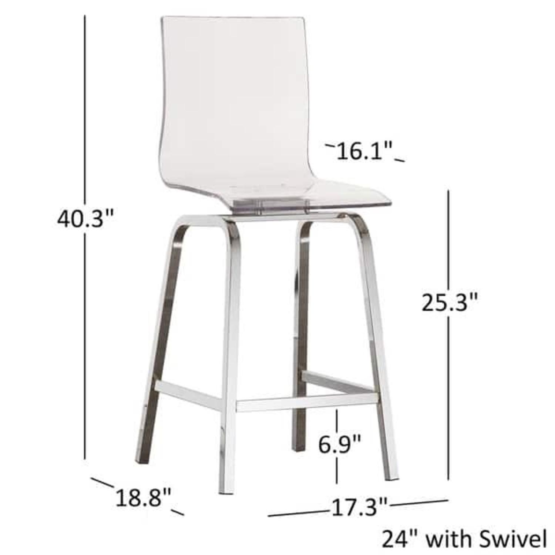 Picture of: Acrylic Counter Stool Set Aptdeco