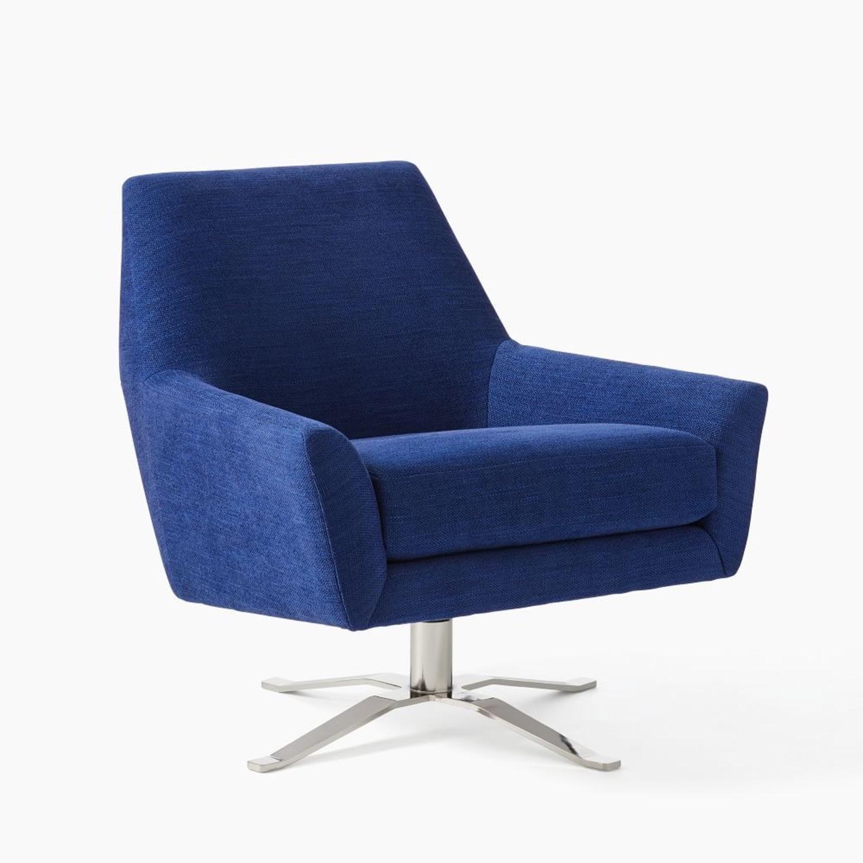 West Elm Lucas Swivel Chair - image-0