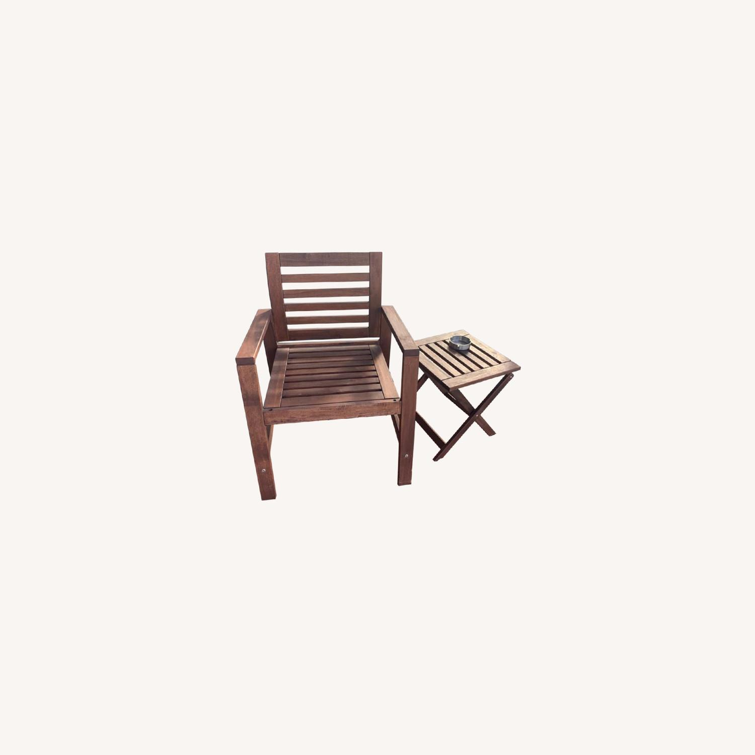 IKEA Outdoor Chair/Table - image-0