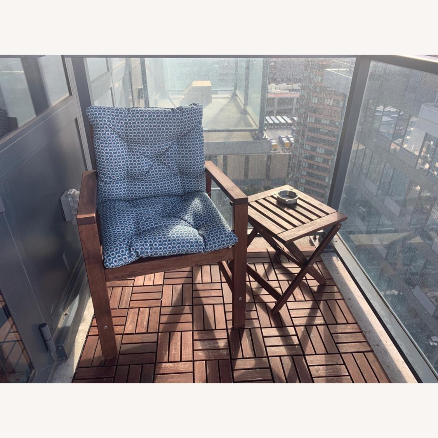 IKEA Outdoor Chair/Table - image-1